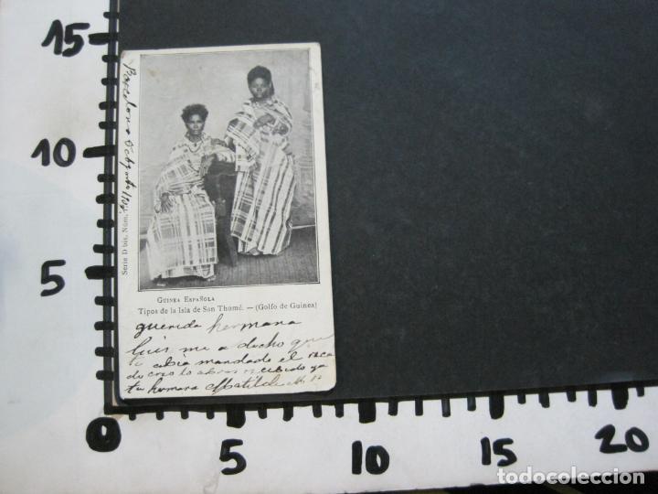 Postales: GUINEA ESPAÑOLA-TIPOS DE LA ISLA DE SAN THOME-REVERSO SIN DIVIDIR-POSTAL ANTIGUA-(74.785) - Foto 5 - 221162485
