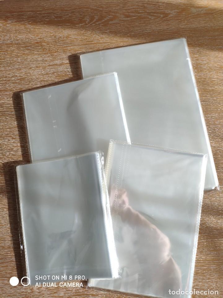 Postales: 1 paquete de 100 fundas individuales para décimos lotería, ONCE, cromos, postales ex colonias - Foto 3 - 221602950