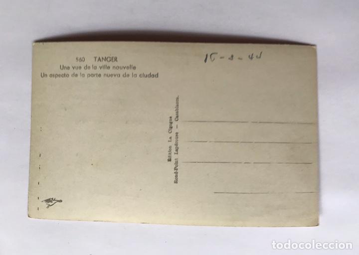 Postales: TANGER, Postal No.560, Un aspecto de la parte nueva de la Ciudad, Edit., La Cigogne (a.1944) S/C - Foto 2 - 221809340