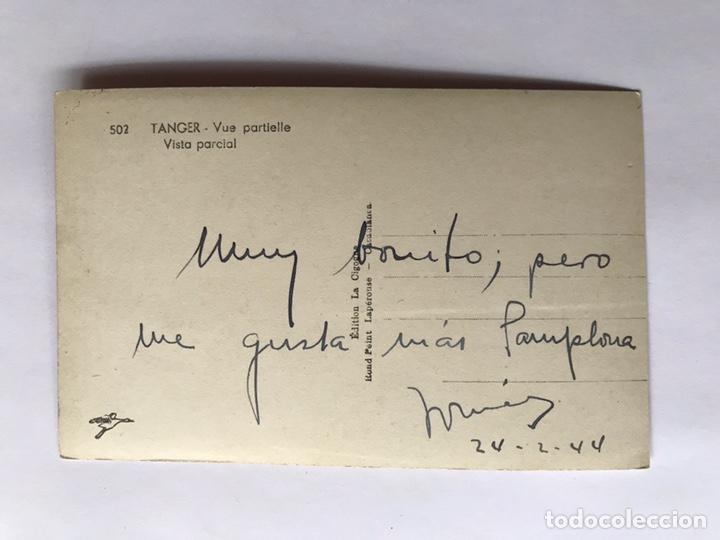 Postales: TANGER, Postal No.502, Vista Parcial, Edit., La Cigogne (a.1944) Dedicada... - Foto 2 - 221809808