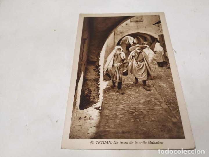 MARRUECOS - POSTAL TETUÁN - UN TROZO DE LA CALLE MUKADEN (Postales - Postales Temáticas - Ex Colonias y Protectorado Español)