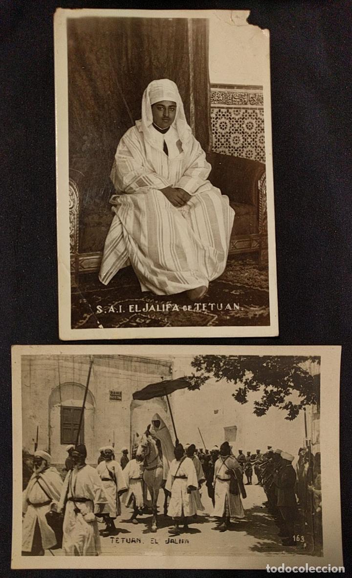 Postales: Dos postales de El Jalifa de Tetuán. Década de 1920. Protectorado. - Foto 2 - 222448671