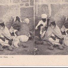 Cartes Postales: ARGELIA ALGERIE BARBIER ARABE. ED. LL Nº 22. POSTAL ESTEREOSCOPICA FRANCESA. Lote 223262676