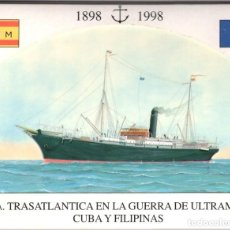 Cartes Postales: BUQUES DE LA CIA. TRASATLANTICA EN LA GUERRA DE CUBA Y FILIPINAS. Lote 224363948