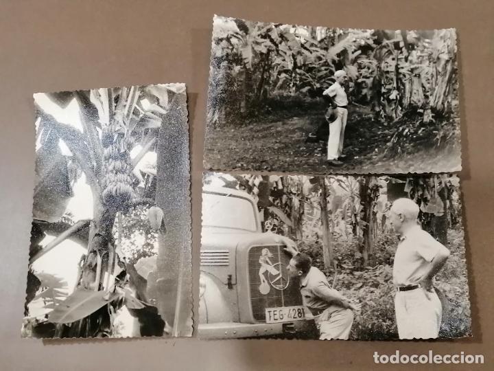 LOTE 3 FOTOS ANTIGUAS DE LA GUINEA ESPAÑOLA. VISITA A LAS PLANTACIONES (Postales - Postales Temáticas - Ex Colonias y Protectorado Español)