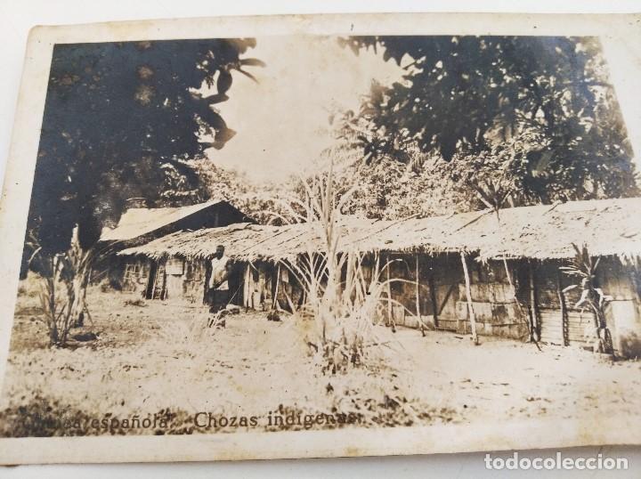 """POSTAL GUINEA ESPAÑOLA. CHOZAS INDÍGENAS. ESCRITA """"CASAS DE MORENOS DE BATA"""". 1940/1950 (Postales - Postales Temáticas - Ex Colonias y Protectorado Español)"""