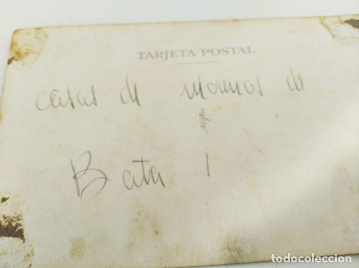 "Postales: POSTAL GUINEA ESPAÑOLA. CHOZAS INDÍGENAS. ESCRITA ""Casas de morenos de Bata"". 1940/1950 - Foto 2 - 232702965"