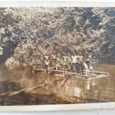 """Postales: TARJETA POSTAL GUINEA ESPAÑOLA. ESCRITA """"RÍO CAMPO CERCA DE LA FRONTERA FRANCESA"""". AÑOS 1940/1950. Lote 232703170"""