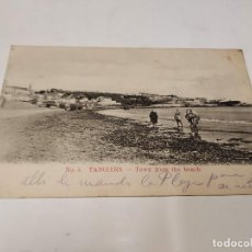 Postales: MARRUECOS - POSTAL TÁNGER (TANGIER) - TOWN FROM THE BEACH. Lote 241861960