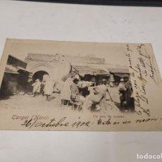 Postales: MARRUECOS - POSTAL TÁNGER - UN COIN DU MARCHÉ. Lote 241869675