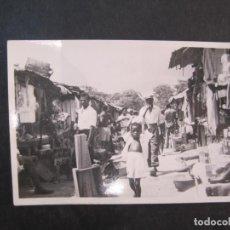 Postales: SANTA ISABEL DE FERNANDO POO-MERCADO-FOTOGRAFIA ANTIGUA-(77.591). Lote 242352870