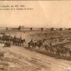 Postales: ORIGINAL - CAMPAÑA DEL RIF 1921 - VISTA DE LAS MURALLAS DE LA ALCAZABA DE ZELUAN M.V. POSTAL EXPRES. Lote 243448385