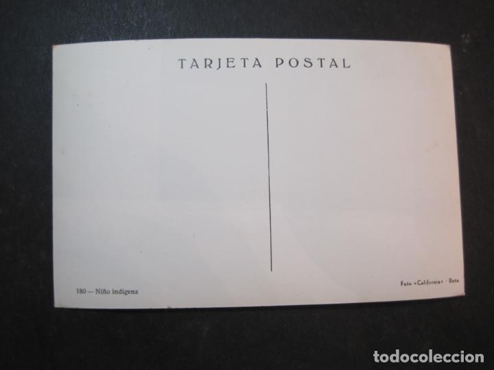 Postales: GUINEA ESPAÑOLA-NIÑO INDIGENA-FOTO CALIFORNIA BATA-180-POSTAL ANTIGUA-(77.623) - Foto 3 - 243614520