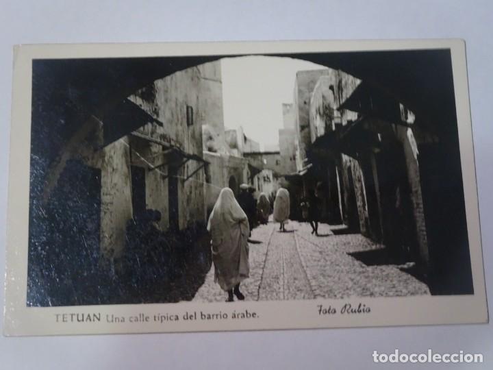 ANTIGUA POSTAL CPA, TETUÁN, CALLE TÍPICA DEL BARRIO ÁRABE, VER FOTOS (Postales - Postales Temáticas - Ex Colonias y Protectorado Español)
