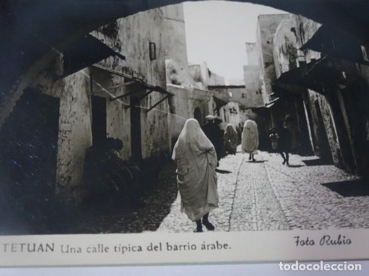 Postales: ANTIGUA POSTAL CPA, TETUÁN, CALLE TÍPICA DEL BARRIO ÁRABE, VER FOTOS - Foto 3 - 245084520