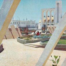 Postales: MARRUECOS, SAHARA, VILLA CISNEROS PLAZA DE ESPAÑA. ED. CASTRO JUNCO OVIEDO Nº 100. AÑO 1969. ESCRITA. Lote 245473470