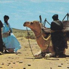 Postales: MARRUECOS, SAHARA, ALTO EN EL DESIERTO. ED. RABADAN Nº 30046. AÑO 1970. ESCRITA. Lote 245474465