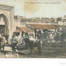 Postales: TANGER-PUERTA DEL GRAN ZOCO- AÑO 1904- SIN DIVIDIR. Lote 247308350