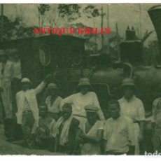 Postales: GUINEA ECUATORIAL Nº C-19 LOCOMOTORA Y PERSONAL IZAGUIRRE Y COMP. / EDI. PUBLI. PATRIOTICAS. Lote 253630465