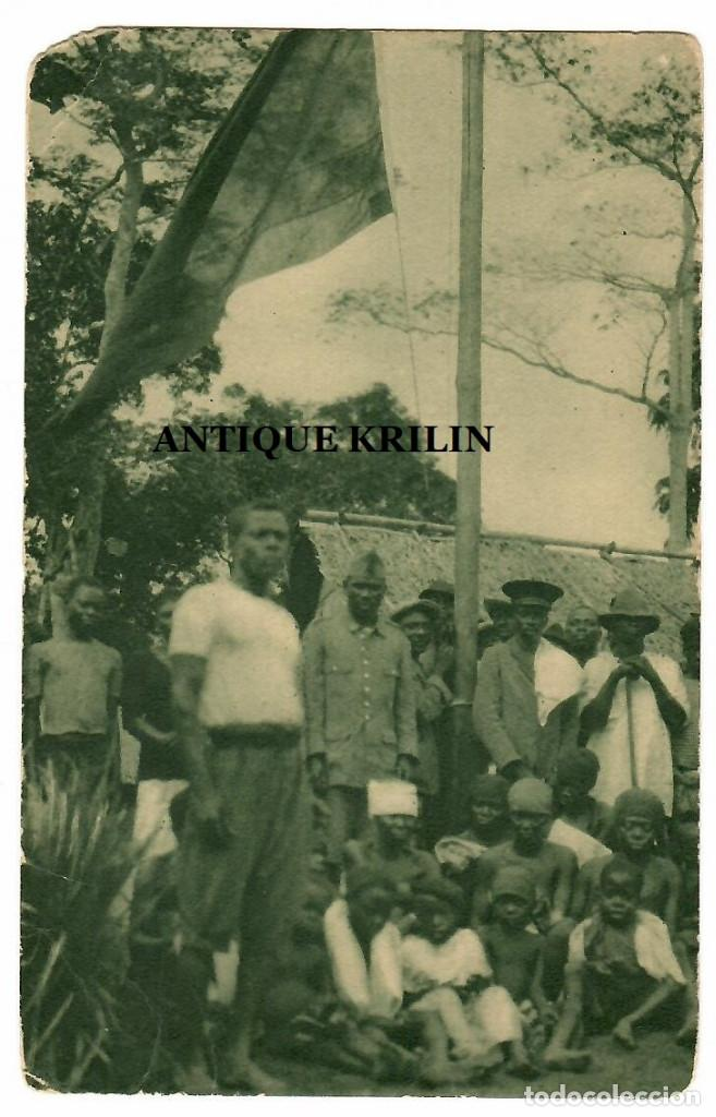 GUINEA CONTINENTAL Nº B-10 INDIGENAS DE SENYE BAJO PABELLON ESPAÑOL (Postales - Postales Temáticas - Ex Colonias y Protectorado Español)