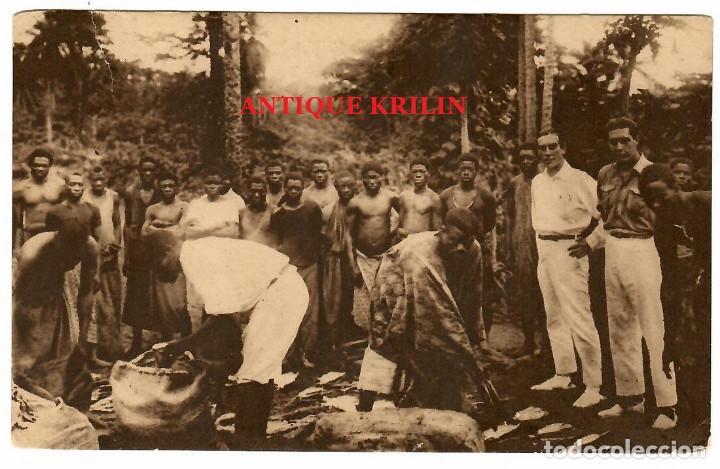Postales: GUINEA ESPAÑOLA Nº A-21 / RACIONAMIENTO DE BRACEROS / EDICIONES PUBLICACIONES PATRIOTICAS - Foto 2 - 253671450
