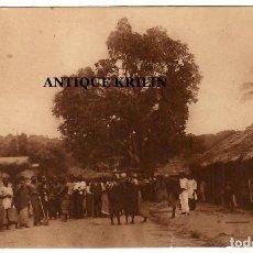 Postales: GUINEA CONTINENTAL Nº B-22 / POBLADO DE ASSOBLA. Lote 253780755