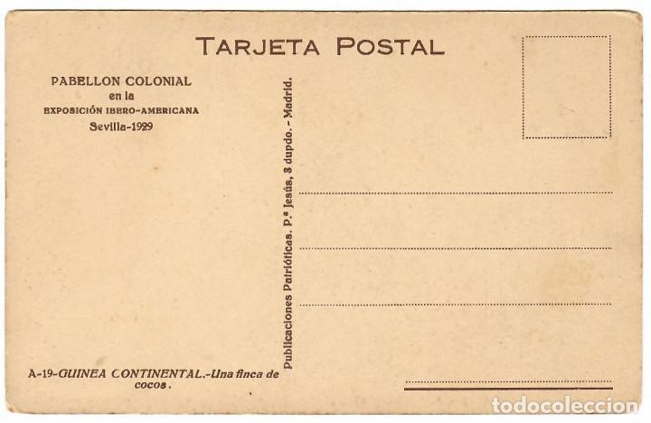 Postales: GUINEA CONTINENTAL Nº A-19 UNA FINCA DE COCOS - Foto 2 - 253796765