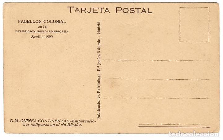 Postales: GUINEA CONTINENTAL Nº C-21 EMBARCACIONES INDIGENAS EN EL RIO BIKABA - Foto 2 - 253797640