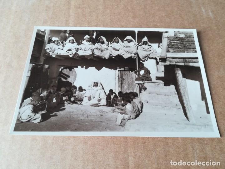 COSTUMBRES ÁRABES ESCUELA CORÁNICA - EDICIONES FOTO ESPAÑA VILLA ALHUCEMAS (Postales - Postales Temáticas - Ex Colonias y Protectorado Español)