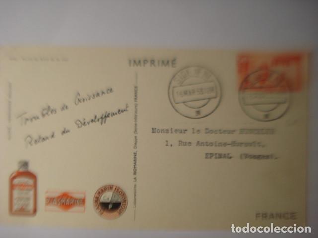 Postales: SIDI IFNI RARISIMA POSTAL DE LA COLONIA DE ESPAÑA EN AFRICA - PROPAGANDA PLASMARINE AÑO 1953 - Foto 2 - 254466030
