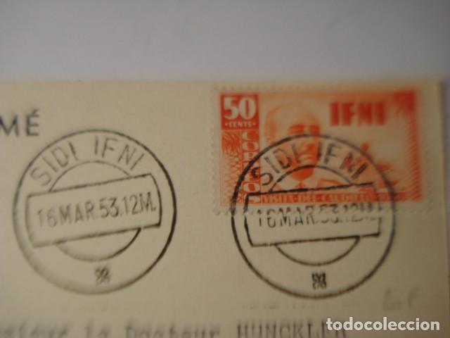 Postales: SIDI IFNI RARISIMA POSTAL DE LA COLONIA DE ESPAÑA EN AFRICA - PROPAGANDA PLASMARINE AÑO 1953 - Foto 3 - 254466030