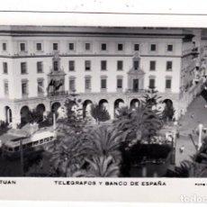 Postales: POSTAL CIRCULADA CORREOS TELEGRAFOS Y BANCO DE ESPAÑA TETUAN (MARRUECOS). Lote 256148755