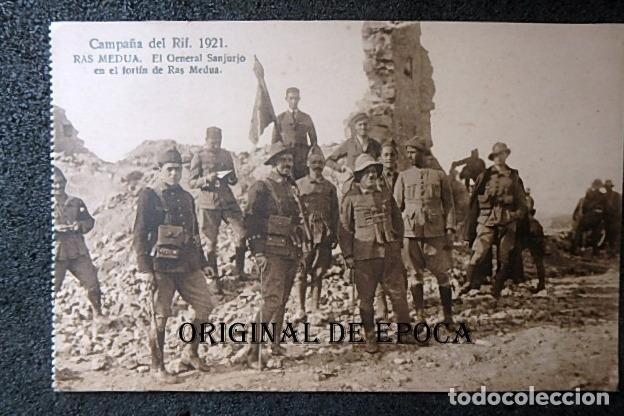 (JX-210515)POSTAL CAMPAÑA DEL RIF,RAS MEDUA,GENERAL SANJURJO EN EL FORTÍN (Postales - Postales Temáticas - Ex Colonias y Protectorado Español)