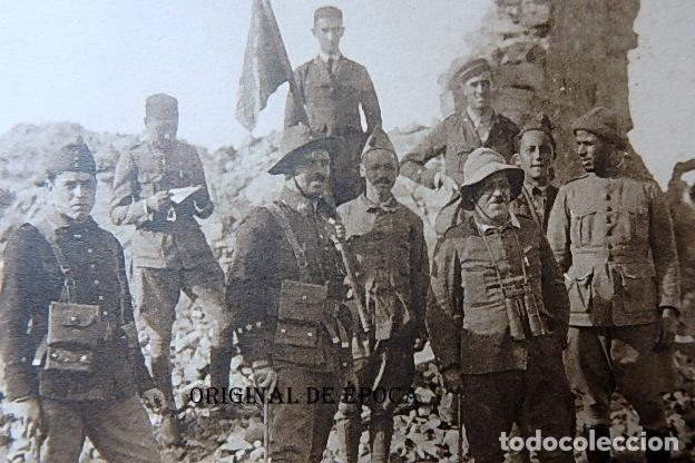 Postales: (JX-210515)Postal Campaña del Rif,Ras Medua,General Sanjurjo en el fortín - Foto 2 - 262090145