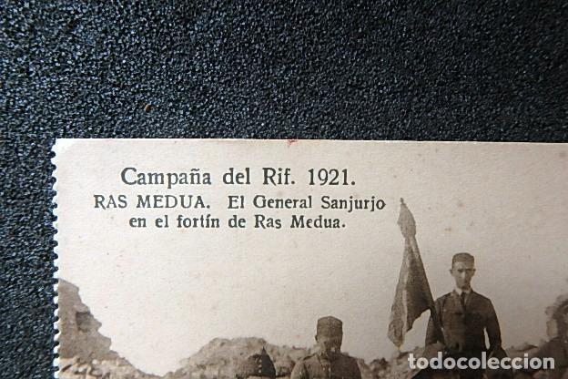 Postales: (JX-210515)Postal Campaña del Rif,Ras Medua,General Sanjurjo en el fortín - Foto 3 - 262090145