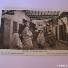 Postales: POSTAL DE TETUAN. CALLE DEL BARRIO MORO. ED. M. ARRIBAS.. Lote 263032450