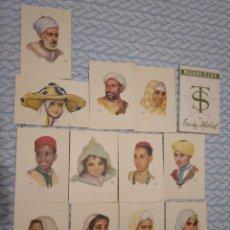 Postales: 12 POSTALES DE MARRUECOS ILUSTRADAS POR ERWIN HUBERT CON ESTUCHE ORIGINAL. Lote 263203965