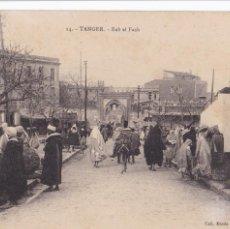 Postales: MARRUECOS TANGER BAB EL FASH. ED. LEBRUN FRÉRES FOTO ALBERT Nº 14. SIN CIRCULAR. Lote 263573330