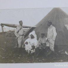 Postales: CEUTA MILITARES ESPAÑOLES Y MORO GUERRA DE ÁFRICA POSTAL FOTOGRÁFICA. Lote 265759769