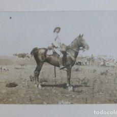 Postales: CEUTA OFICIAL A CABALLO GUERRA DE ÁFRICA POSTAL FOTOGRÁFICA. Lote 265759899