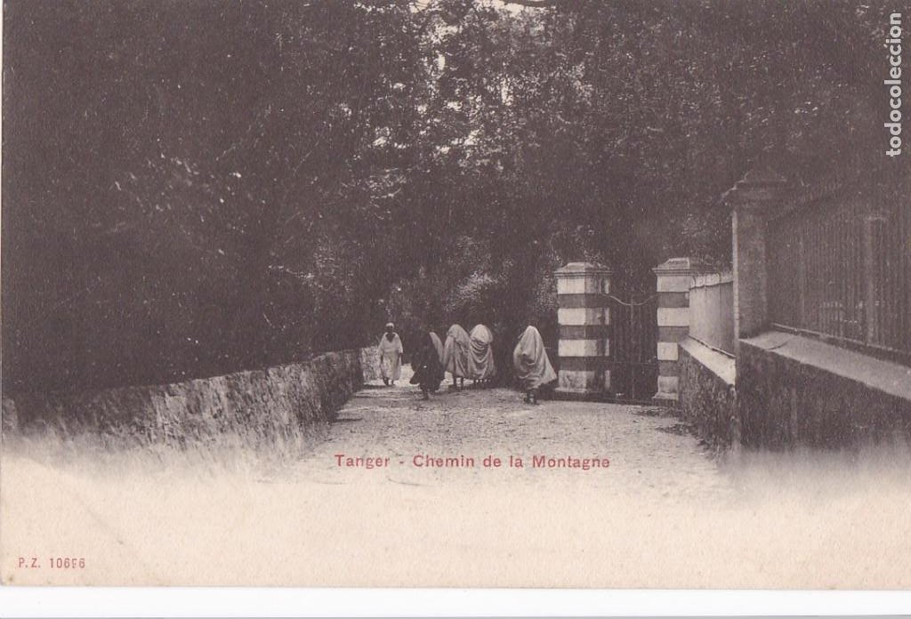 MARRUECOS TANGER CHEMIN DE LA MONTAGNE. ED. P.Z. REVERSO SIN DIVIDIR. SIN CIRCULAR (Postales - Postales Temáticas - Ex Colonias y Protectorado Español)