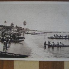 Postais: GUINEA ESPAÑOLA. BATA Nº 4 CAYUCOS INDIGENAS. ESCRITA 1945. Lote 271975528