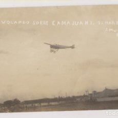Postales: POSTAL FOTOGRÁFICA. ROSILLO VOLANDO SOBRE CAMAJUANÍ. 1914. CUBA. J. MUROS FOTÓGRAFO. Lote 275163593