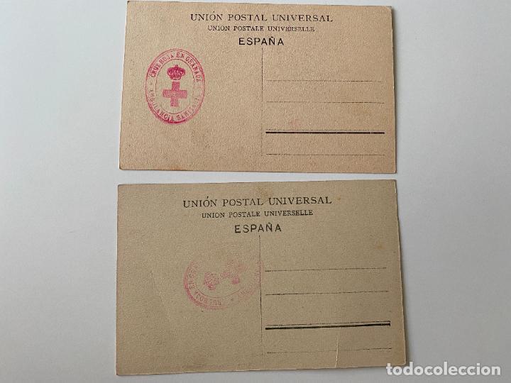 Postales: CRUZ ROJA EN GRANADA , 2 POSTALES . UNA LIMOSNA PARA LOS HERIDOS EN MELILLA , SEÑAN Y ... - Foto 2 - 277621373