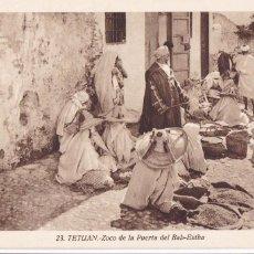 Postales: MARRUECOS, TETUAN ZOCO DE LA PUERTA DEL BAB-ESTHA. ED. FOTO ROISIN Nº 23. SIN CIRCULAR. Lote 277632778