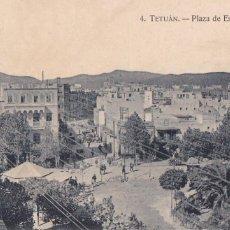 Postales: MARRUECOS, TETUAN PLAZA DE ESPAÑA (PARCIAL). ED. M. ARRIBAS ZARAGOZA Nº 4. SIN CIRCULAR. Lote 277633308