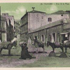 Postales: MARRUECOS, TANGER RUE DE LA PLAGE. ED. LEBRUN FRÈRES Nº 20. SIN CIRCULAR. Lote 277752648