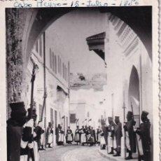 Postales: 143 TETUÁN GUARDIA DE S. A. I. EL JALIFA. FOTO CALATAYUD. ESCRITA. SIN CIRCULAR.. Lote 284752613