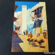 Postales: TETUAN MARRUECOS ESPAÑOL M. BERTUCHI ILUSTRADOR CALLE DE TRANCAT. Lote 285469388
