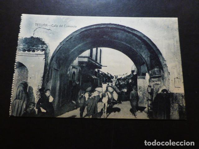 TETUÁN MARRUECOS ESPAÑOL CALLE DEL COMERCIO (Postales - Postales Temáticas - Ex Colonias y Protectorado Español)